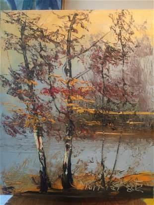 Morris Katz: Autumn Leaves, 1976