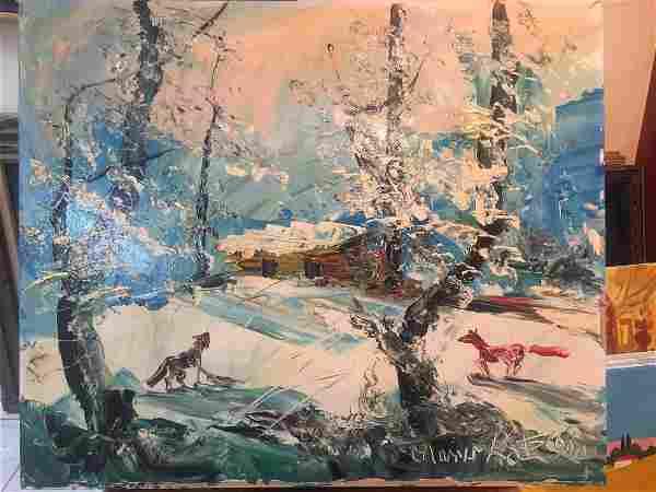 Morris Katz: Winter Cabin, 1990