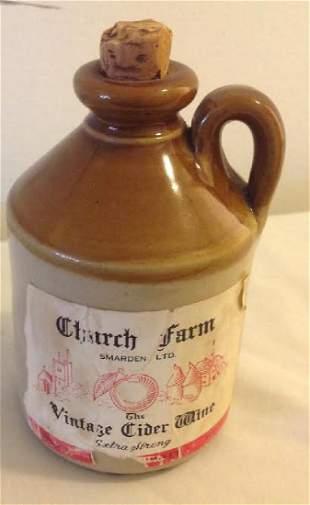 Antique Church Farm Stoneware Jug