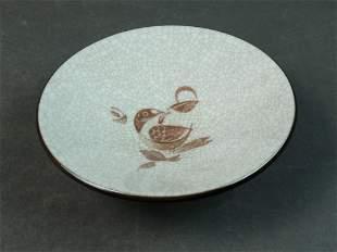 Bing & Grondahl Damark Porcelain Crackle Bowl