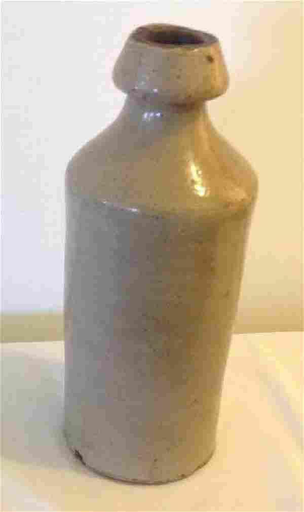 Antique Glazed Stoneware Beer Bottle