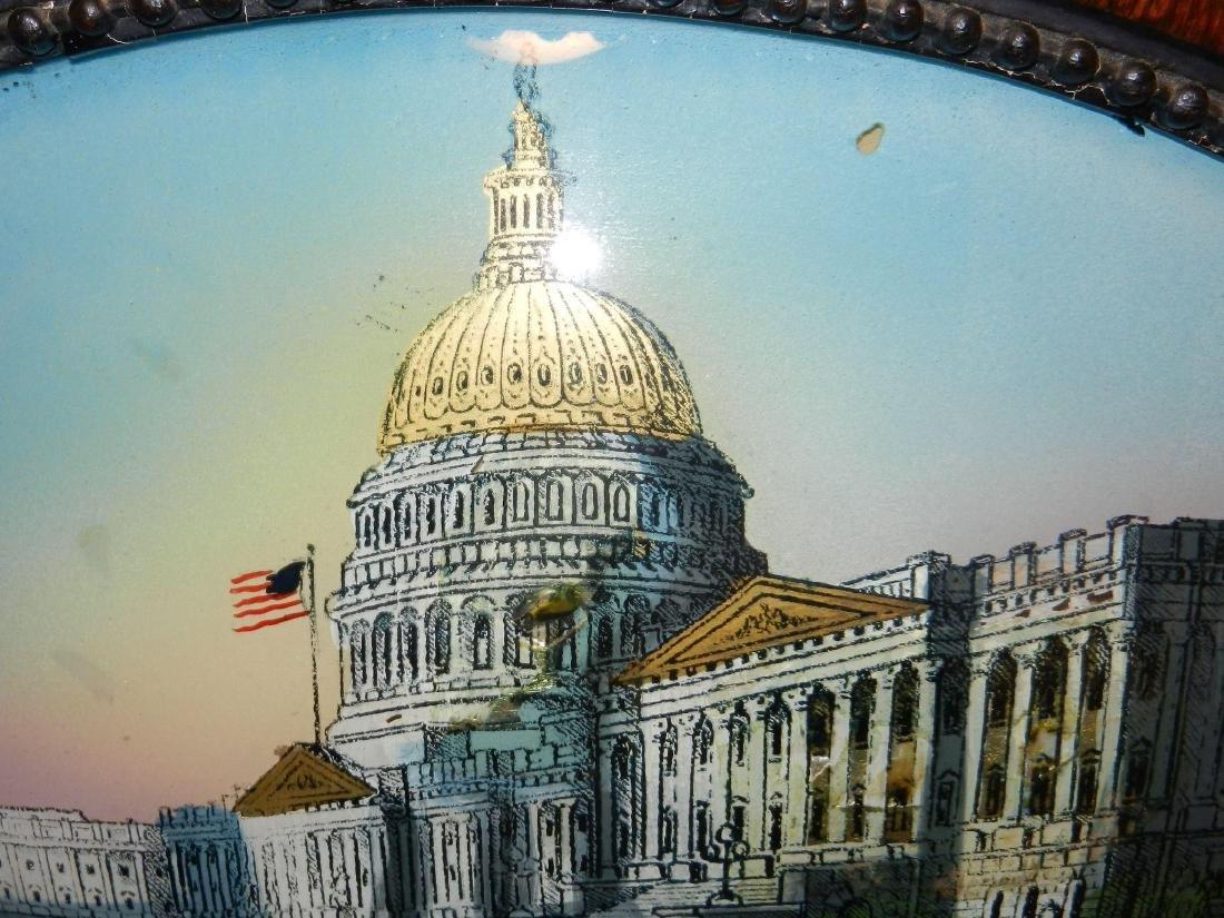 Antique Reverse Painted Capitol Building - 4