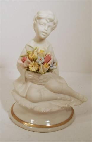Marcolin Capodimonte Bisque Porcelain Figurine