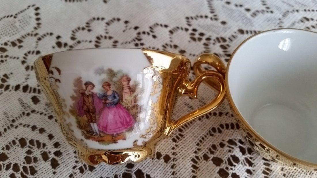 Kunst Palette Regnitzlosau 22k Gold Handpainted Tea Set - 5