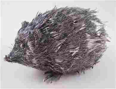 Buccellati 800 Silver Hedgehog Figurine
