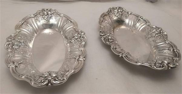 Pair of Sterling Silver Francis I Dishes