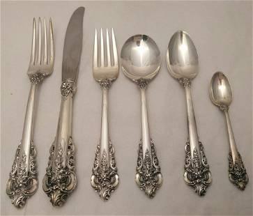 Grand Baroque Wallace Sterling Silver Flatware Set