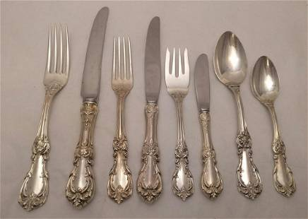 Sterling Silver Flatware Set, Towle in Debussy