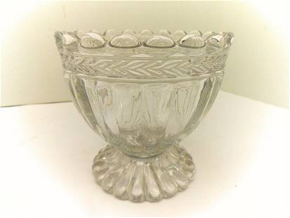 St. Louis French Pressed Crystal Footed Bowl