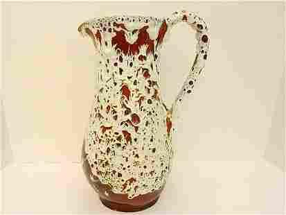 Fat Lava Art Pottery Pitcher
