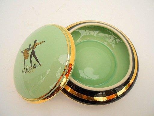 French Mid Century Porcelain Ballet Theme Trinket Box - 3