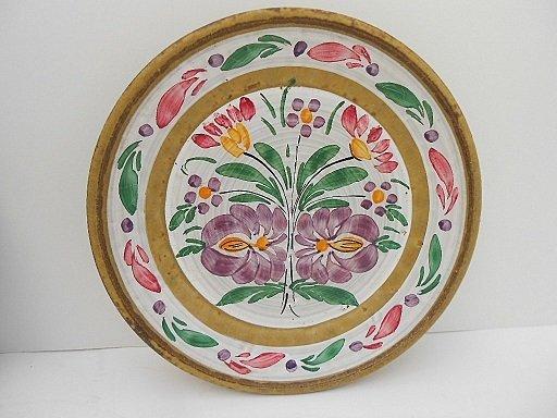 Pair Keraluc Quimper Hand Painted Sandstone Plates - 3