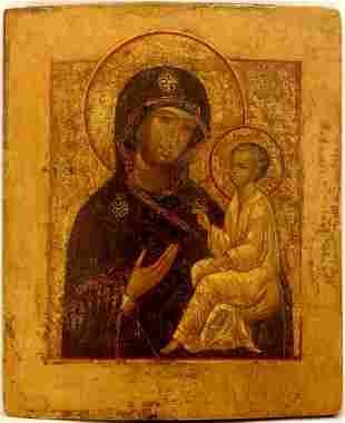 Theotokos of Tikhvin Russian Icon, 18th C