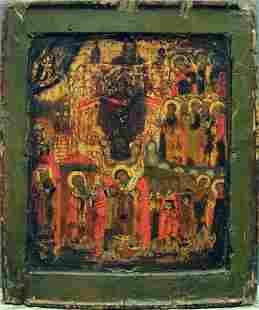 Antique Intercession Pokrov Russian Icon, 17th-18th C