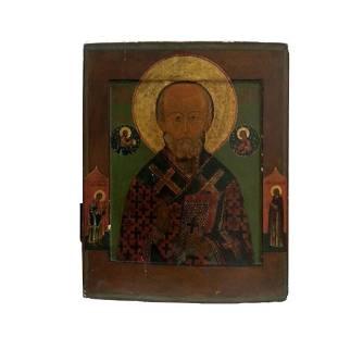 St Nickolas Russian Icon, 19th C