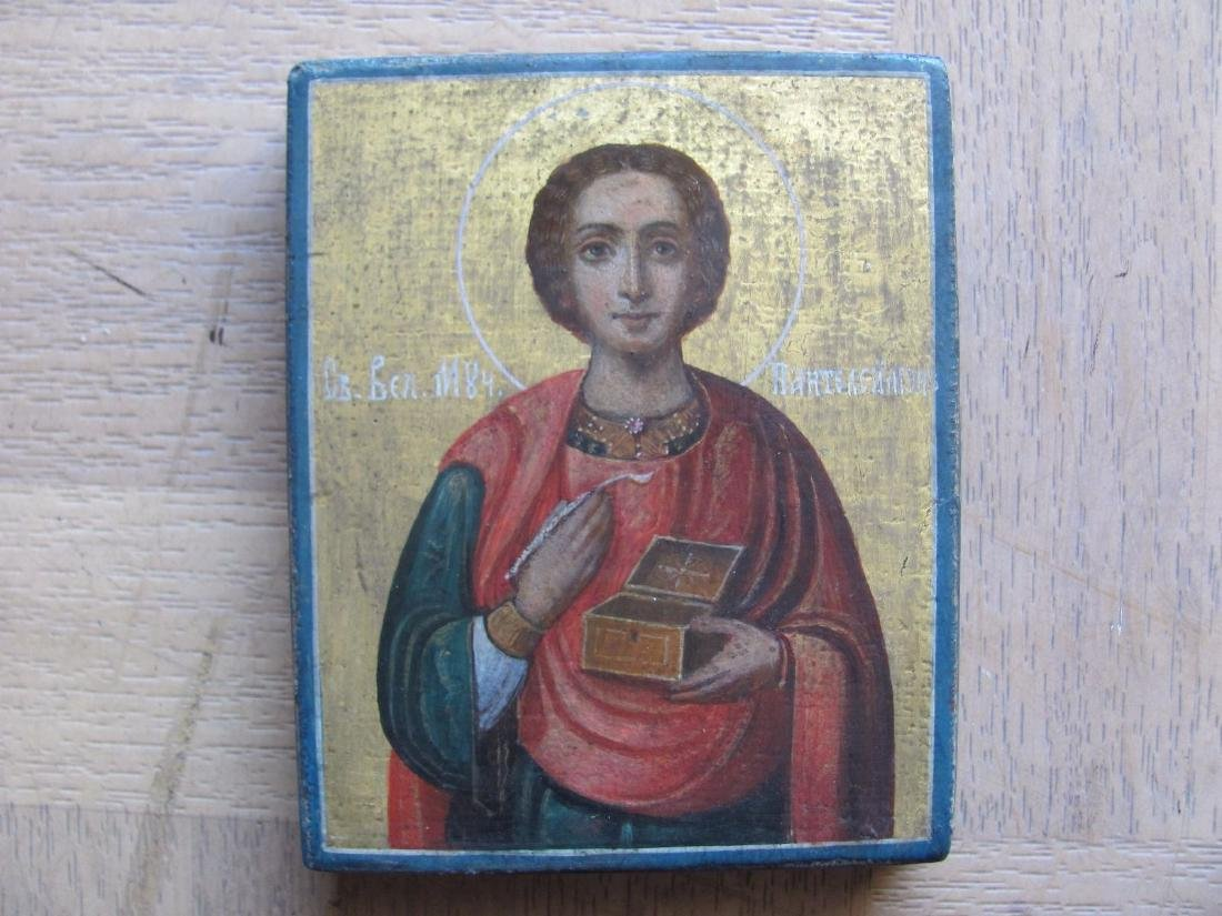 Antique St. Panteleymon Blessed Russian Icon, 1905