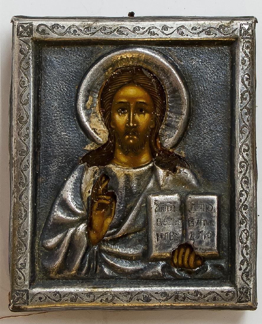 Christ Pantocrator Oklad Russian Icon, 19th C