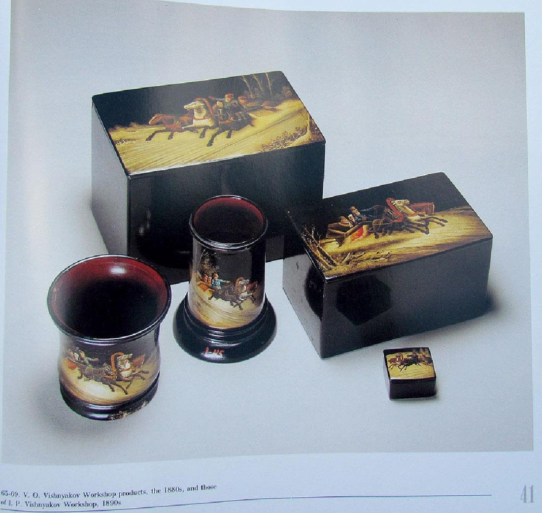 Russian Lacquer Painting School Fedoskino Ref Book - 3