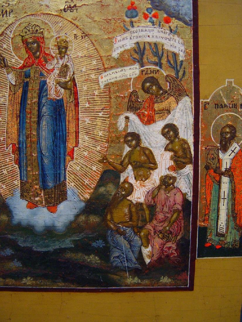 Mother of Joy Russian Icon (Nevyansk), 19th C - 2