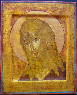 John the Baptist Russian Icon, 1890-1920