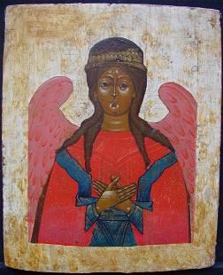 Rare Holy Sophia Wisdom of God Russian Icon, 1700