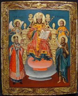 Christ as King of Kings Greek Icon, 18th C