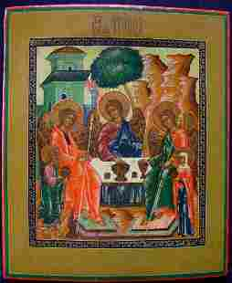The Old Trinity Russian Icon, 19th C