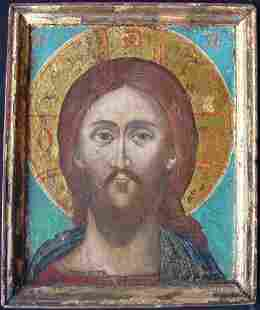 Christ with the Fiery Eye Greek Icon, 17th C