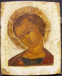 Christ Immanuel Russian Icon, 17th C