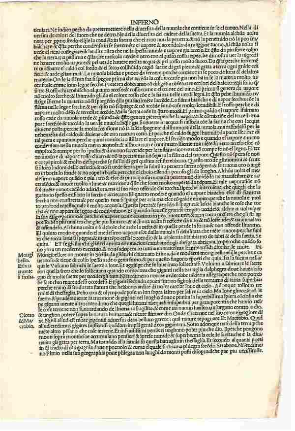 Leaf From Dante Divine Comedy Inferno