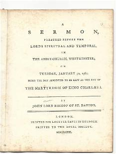1781 English Pamphlet Government And Religion