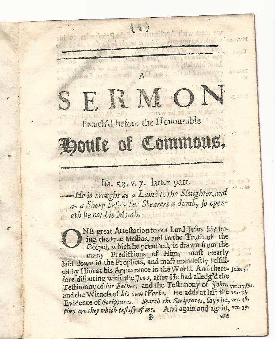 1698 Sermon Preach'd Before Honourable House Of Commons - 2