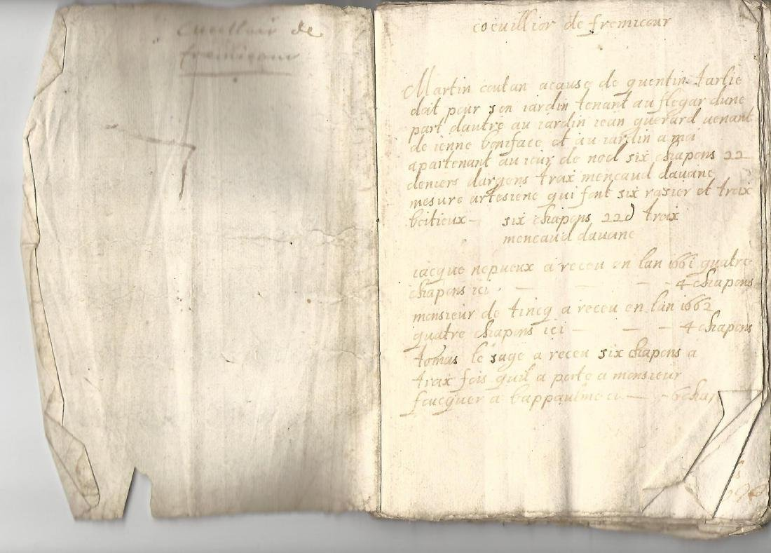 18th C 90-Page Manuscript French Ledger Journal