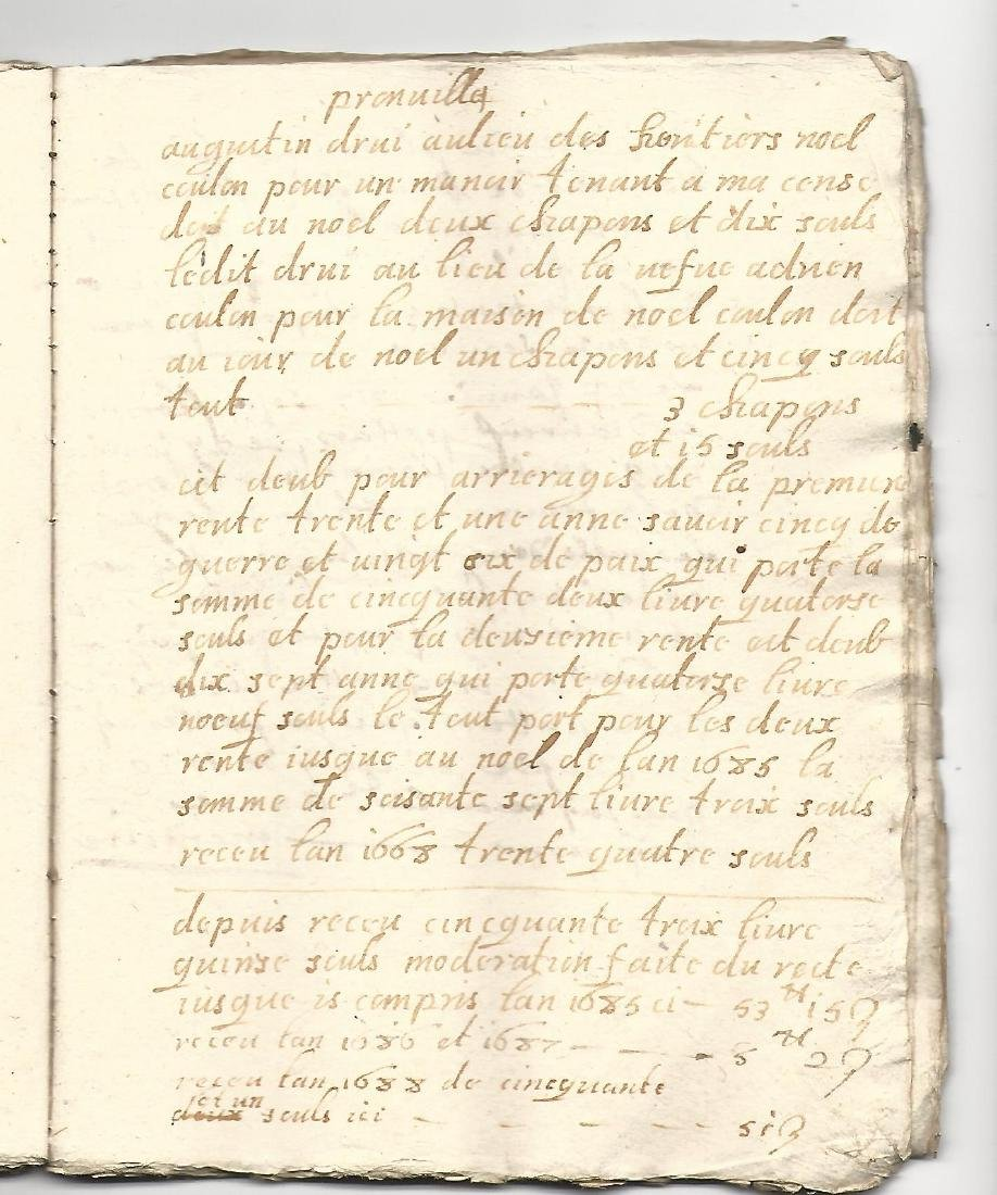 18th C 90-Page Manuscript French Ledger Journal - 2