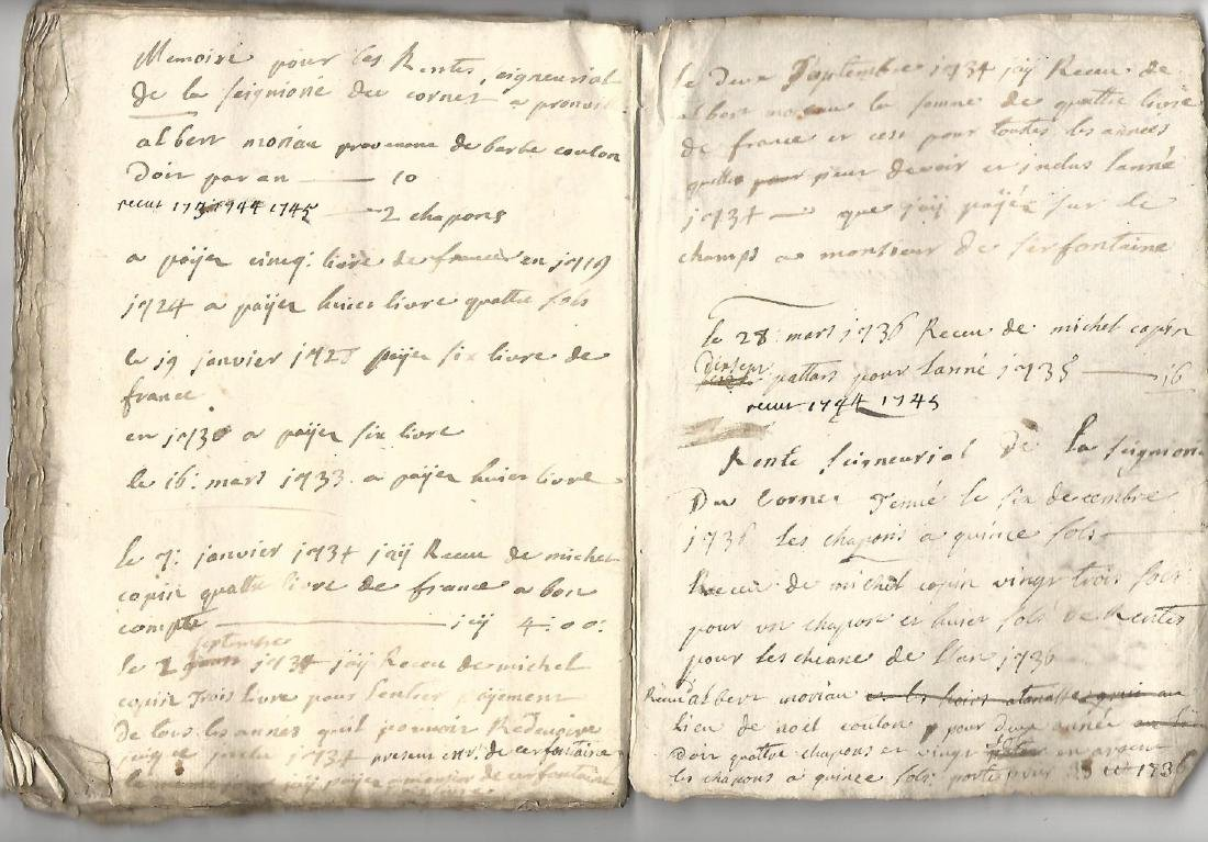 18th C 90-Page Manuscript French Ledger Journal - 3