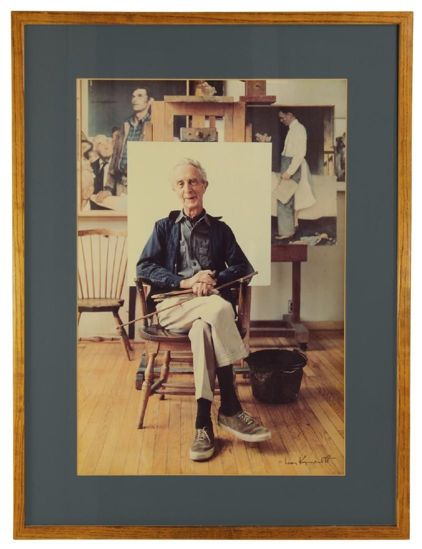 Portrait Of Norman Rockwell, Signed