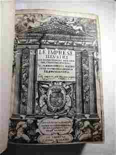 1572 Illustrated Le Imprese Illustri Con Expositioni