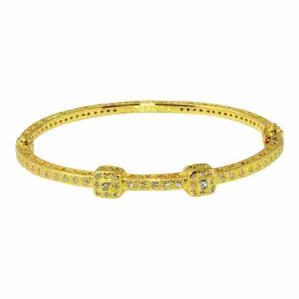 Philippe Charriol 18K Gold Diamond Bracelet, 0.8ctw