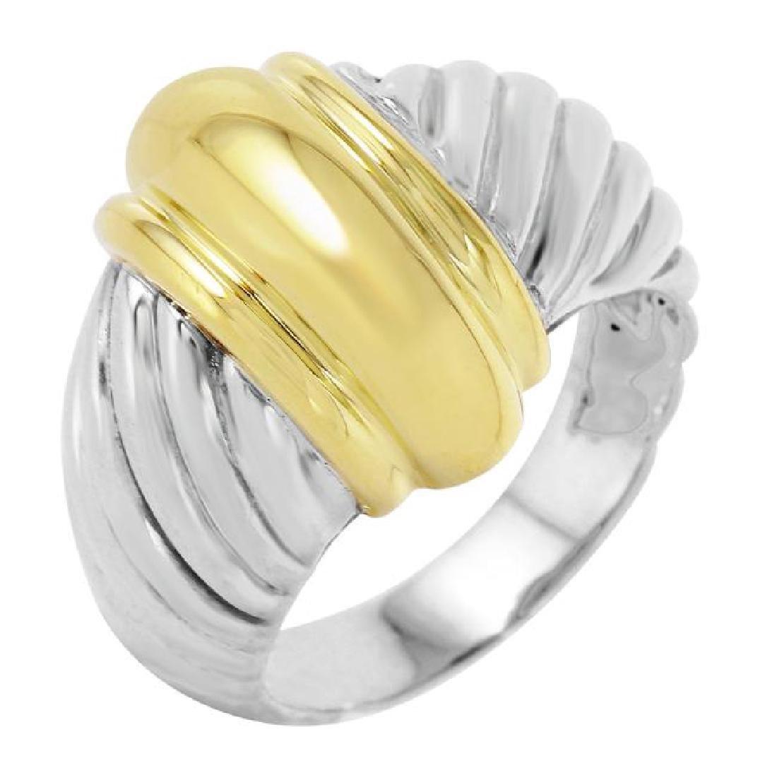 David Yurman Sterling Silver 18K Gold Ring