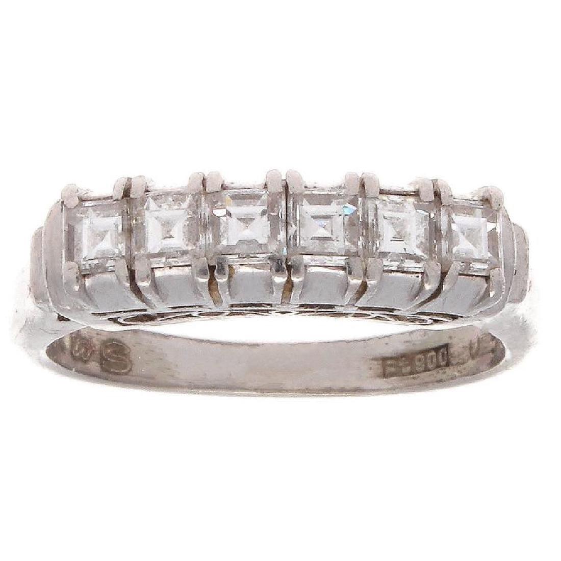 Platinum Asscher Cut Diamond Ring