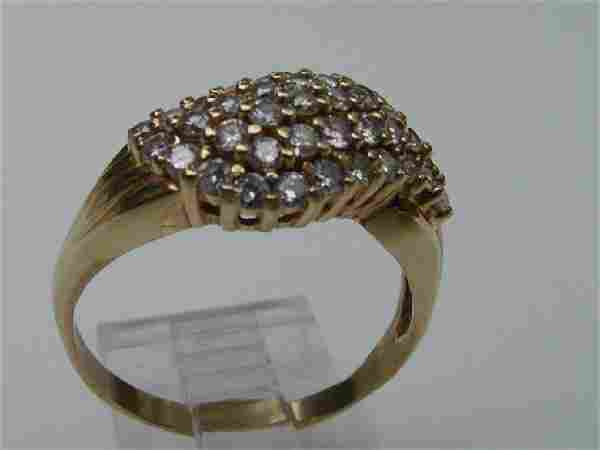 Vintage 14K Gold & Diamond Ring