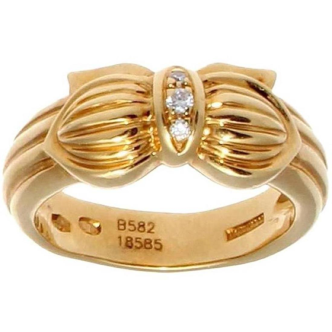 Boucheron 18K Gold Diamond Ring