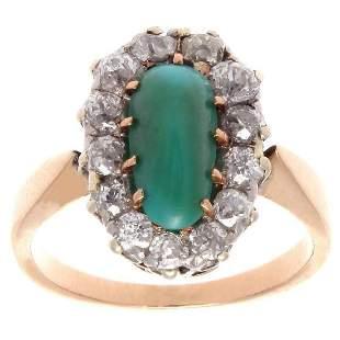 Belle Epoque 18K Gold Turquoise Diamond Ring