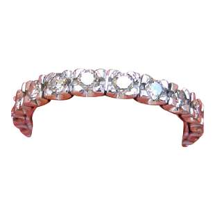 Mid Century Diamond Platinum Eternity Band Ring, 1950
