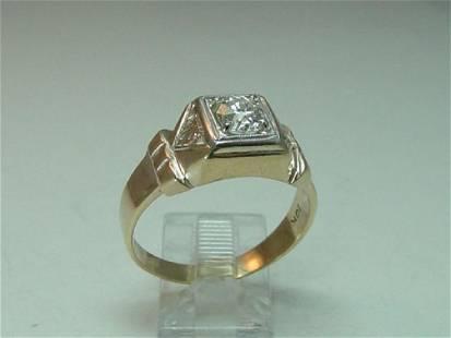 Vintage 10K Gold Men's Diamond Ring