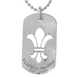 Chrome Hearts Sterling Silver Dog Tag Necklace
