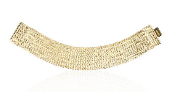 Cissy Zoltowska Wide Gilt Collar Necklace, 1960