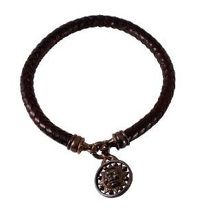Kieselstein Sterling Silver Leather Cord Necklace