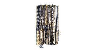 Chanel Black Gold Mutlilayer Chain Bracelet