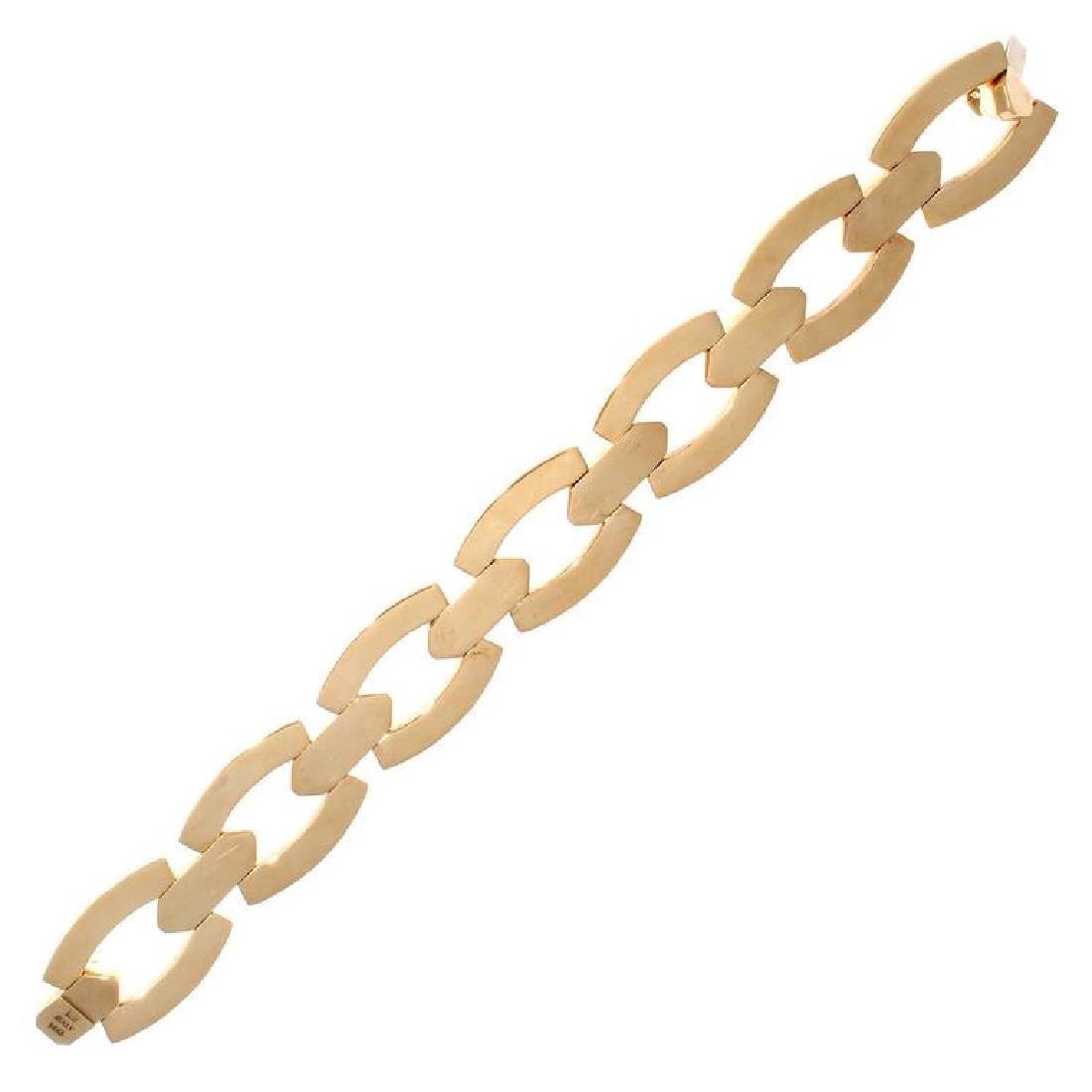 Italian 14K Gold Bracelet - 2